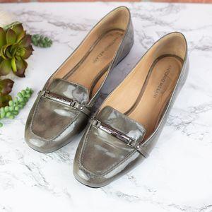 Antonio Melani Gray Patent Loafers 8